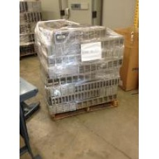 Lot of Freezer Racks - Pallet with Racks for 5.25x3.5 Boxes