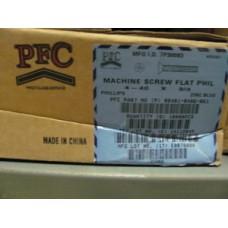Machine Screws, 4-40 x 3/8 Flat Head Machine Screws, Plated
